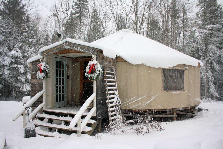 yurt in the snow | by longwinterfarm