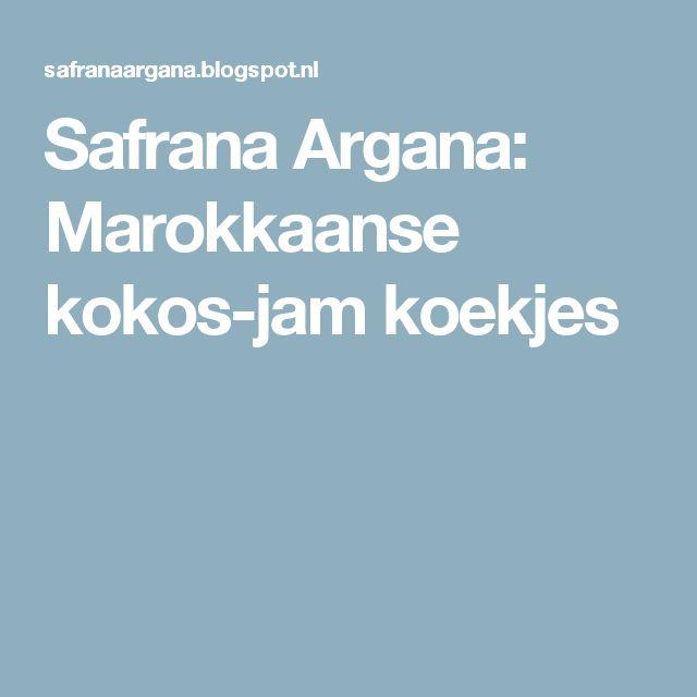 Safrana Argana: Marokkaanse kokos-jam koekjes