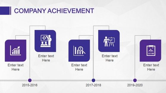 Company Achievement Slide Design Timeline for presentations with Animated PowerPoint template design #PowerPoint #Animated #templates