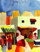 Market In Algier  by August Macke