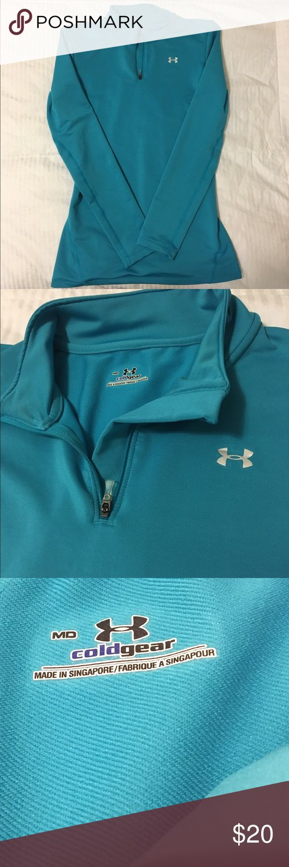 Under Armoir Cold Gear Like new. Only worn twice, no longer fits. Beautiful blue! Under Armour Tops