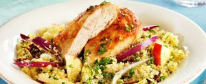 Kylling med couscous og eplesalat