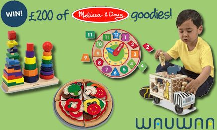 We've teamed up with our friends at Wauwaa! Wauwaa is a new online destination delivering a refreshing shopping experience for new parents and growing families.   They combine exclusive offers on luxury baby, kidswear and nursery brands with advice and information to help you along your parenting journey. To celebrate we are giving away a bundle of Melissa & Doug Toys worth over £200!  Closing Date 10 November 2014