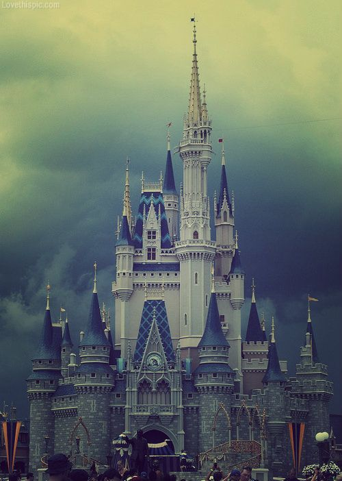Stormy Disney castle dark storm clouds disney castle. We should do something about rainy day fashion