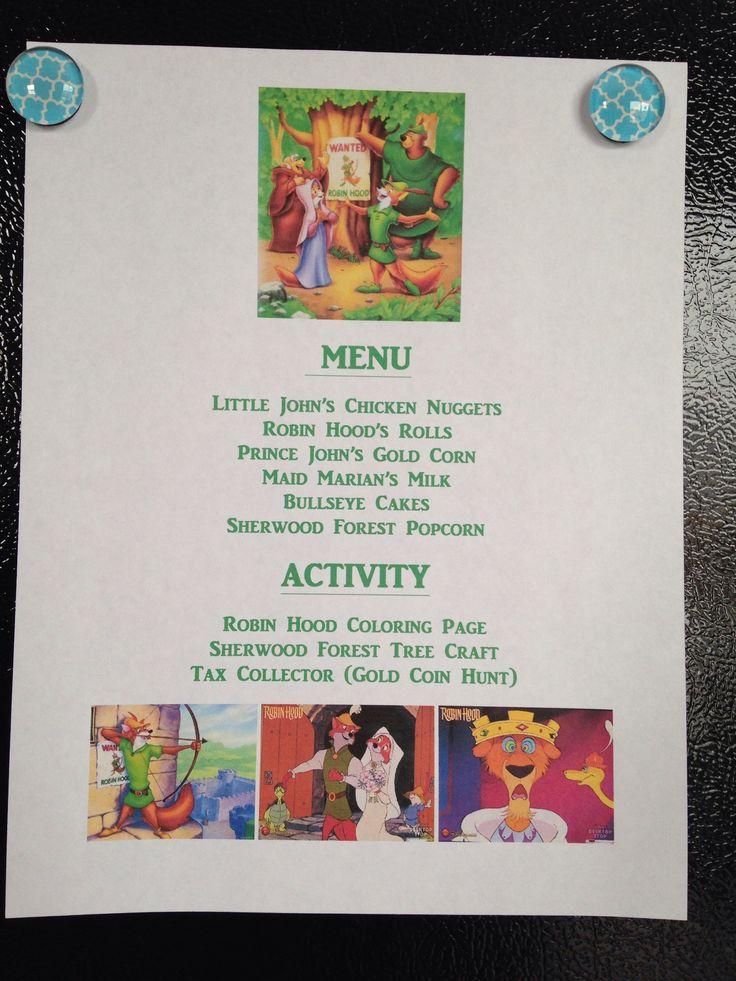Robin Hood Menu - Robin Hood Movie Night - Disney Movie Night - Family Movie Night// little Johns pork chops and added maid.marian mac n cheese