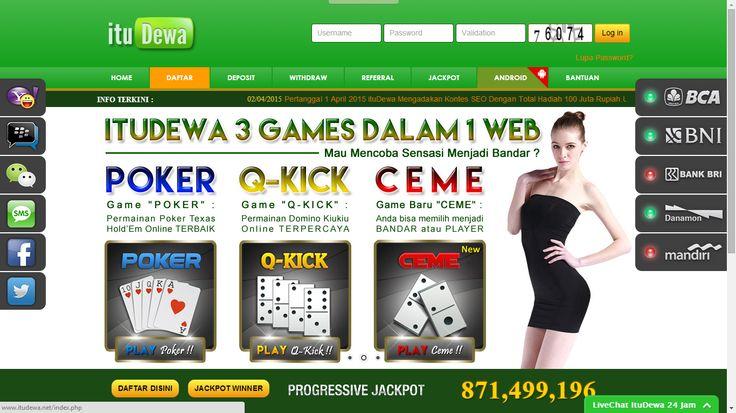 ituDewa.net Agen Judi Poker Domino QQ Ceme Online Indonesia  - Apakah anda sedang mencari Agen Judi Poker Domino QQ Ceme Online Indonesia yang memiliki reputasi dan bisa di percaya pada saat ini
