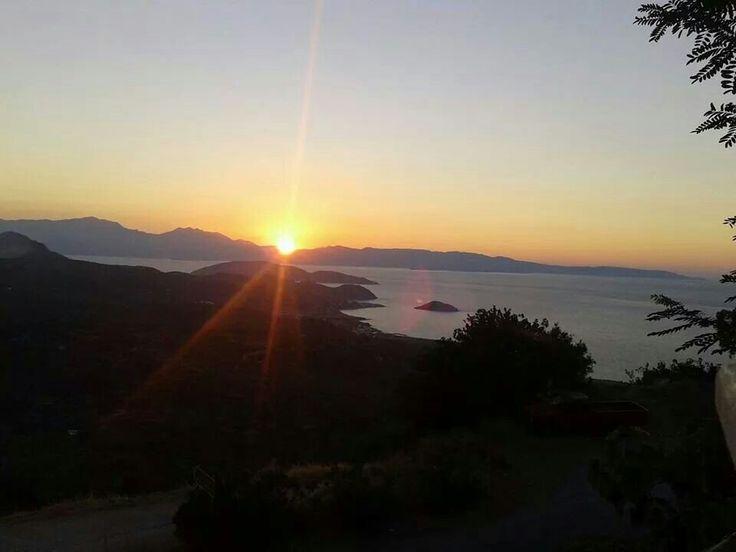 Sunset, Mochlos