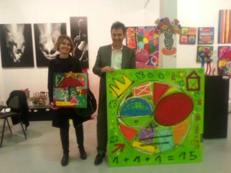 Les heureux propriétaires de deux magnifiques oeuvres de David Ferreira !