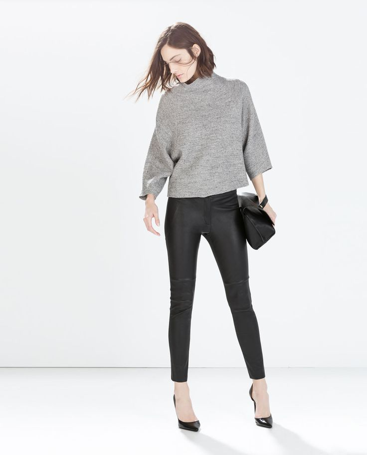 LEATHER SKINNY TROUSERS-Trousers-Woman-COLLECTION SS15 | ZARA United States