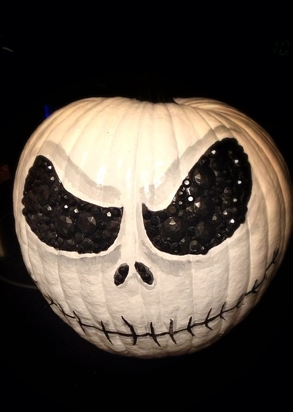 My Jack Skellington Pumpkin, said another pinner. This is awesome!
