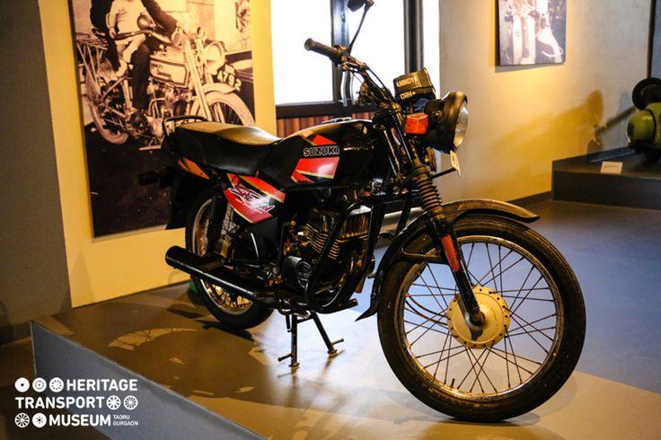 A glistening TVS Suzuki Shaolin on display in the museum!