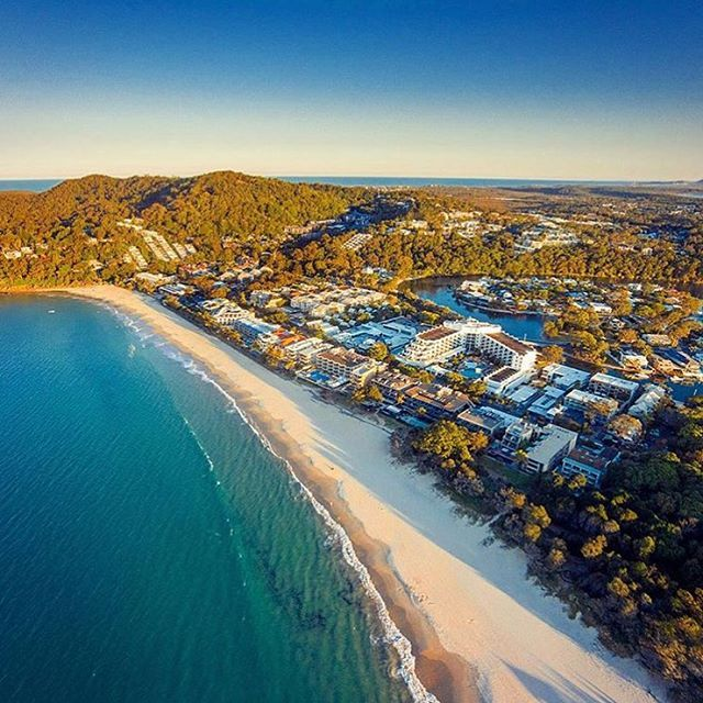 Noosa Heads looking sensational from above! Low-rise and leafy, the coastal town of Noosa Heads is popular with visitors from around Australia and overseas.