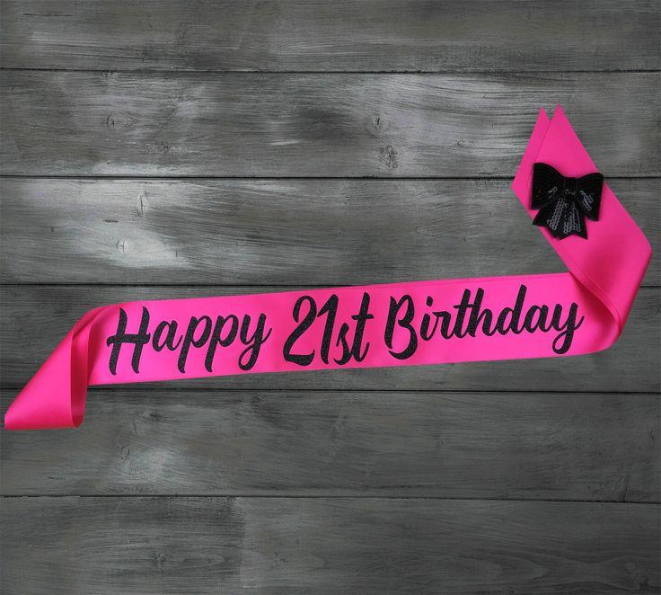 21st Birthday Sash - Birthday Sash - 21st Birthday - 21st Party Sash - Personalized Sash by EyesOfDisguise on Etsy https://www.etsy.com/listing/265091928/21st-birthday-sash-birthday-sash-21st