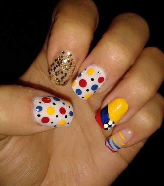 #uñas #colombia Uñas de la selección Colombia!