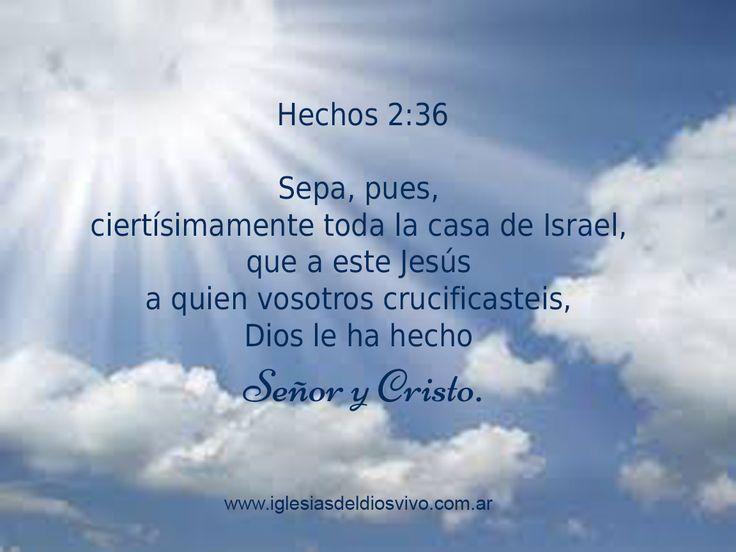 EL SEÑORIO DE JESUCRISTO Hechos 2:36 Sepa, pues, ciertísimamente toda la casa de Israel, que a este Jesús a quien vosotros crucificasteis, Dios le ha hecho Señor y Cristo.  En esta dura declaración que Pedro hace a pocos versículos de Hechos 2:2, momento en que es derramado espíritu santo por primera vez en el día de Pentecostés, nos muestra claramente quien es Jesucristo hoy en día: Es SEÑOR Y es CRISTO. https://www.facebook.com/iglesiasdeldiosvivo
