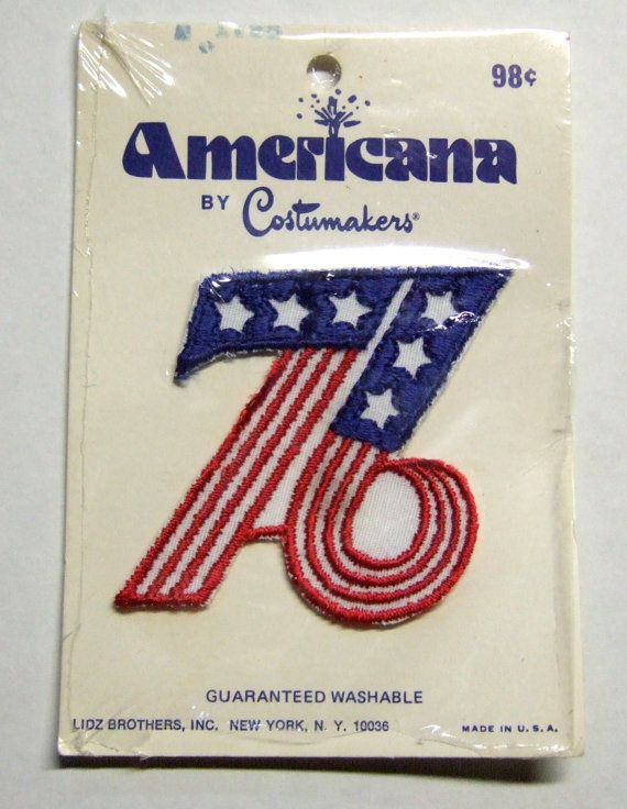 1976 Bicentennial '76 American Flag Embroidered by bishopbrand, $3.00