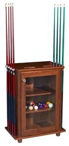 This Accessories Cabinet is the perfect place to store all your pool table essentials.  This makes the perfect gift for Dad for Father's Day or his birthday.
