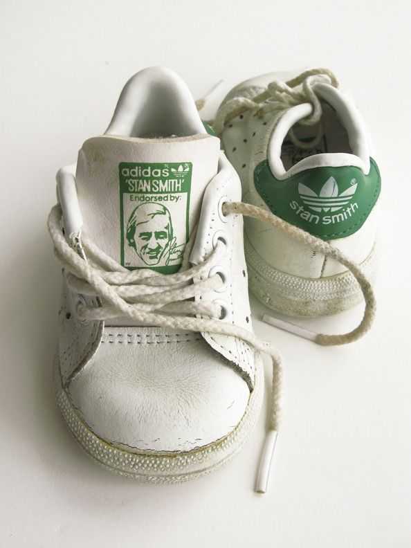 Vintage Adidas Stan Smith Tennis Sneakers- The best! Stan Smith Rocks and wore these forever. Stan homeschooled his 5 kids! Handmade Charlotte loves Stan!