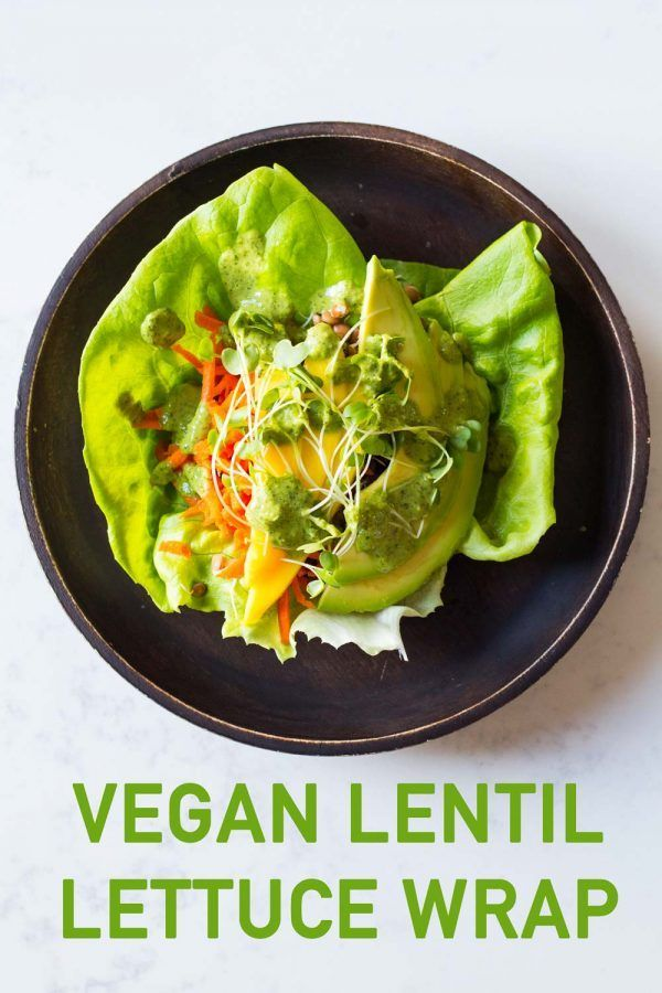 Lentil Lettuce Wrap Image