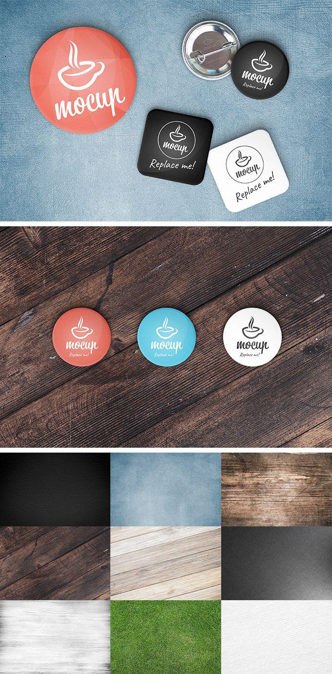 Button Badge Mockup Generator — download free mockups by PixelBuddha