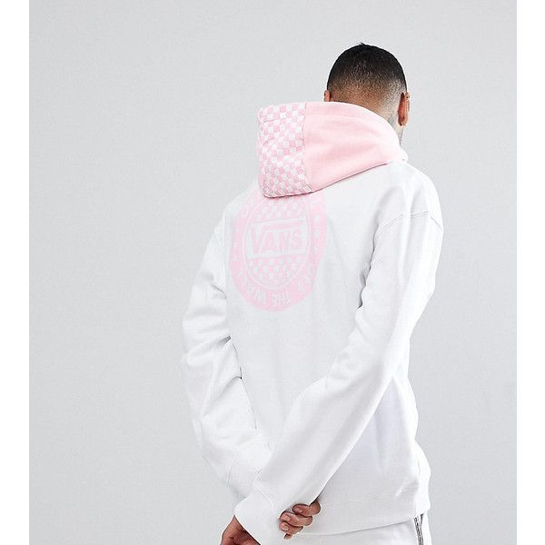 838d119eaf Vans Oversized Hoodie With Back Print In White Exclusive To ASOS ( 93) ❤  liked on Polyvore featuring men s fashion and white