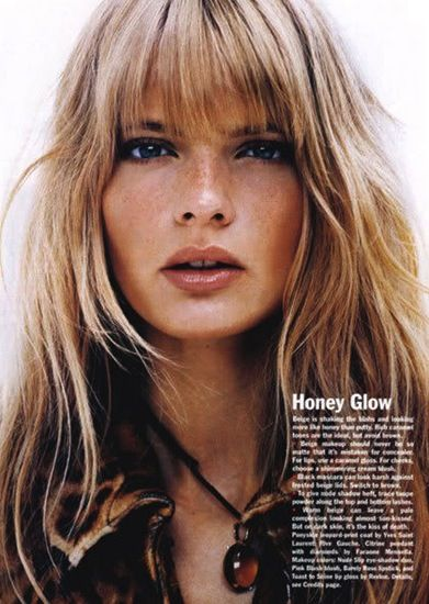 Julia Stegner | Allure September 2004 love her bangs                                                                                                                                                                                 More
