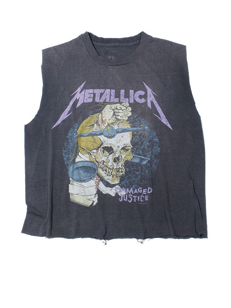 Metallica Damaged Justice Vintage T-Shirt 1988