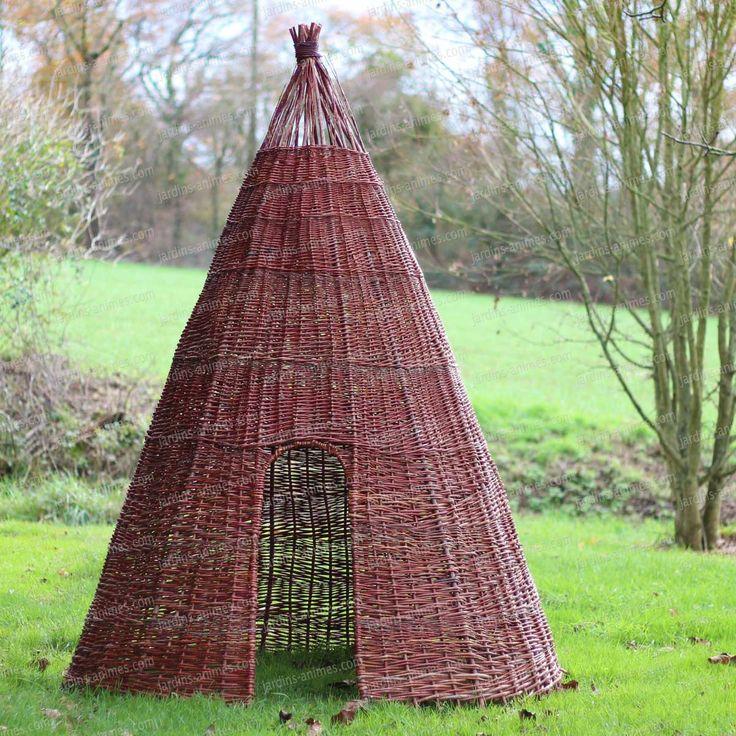 Cabane pour enfant originale : Tipi en osier