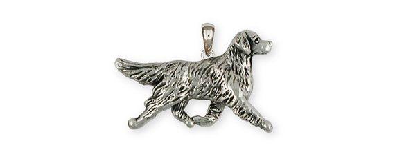 Sterling Silver Golden Retriever Dog Pendant GR41-P by Efsterling