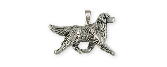 Sterling Silver Golden Retriever Dog Pendant GR41-P by Efsterling