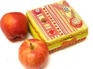 Коробка для завтрака (кусочки яблок, фруктов и т.д.)