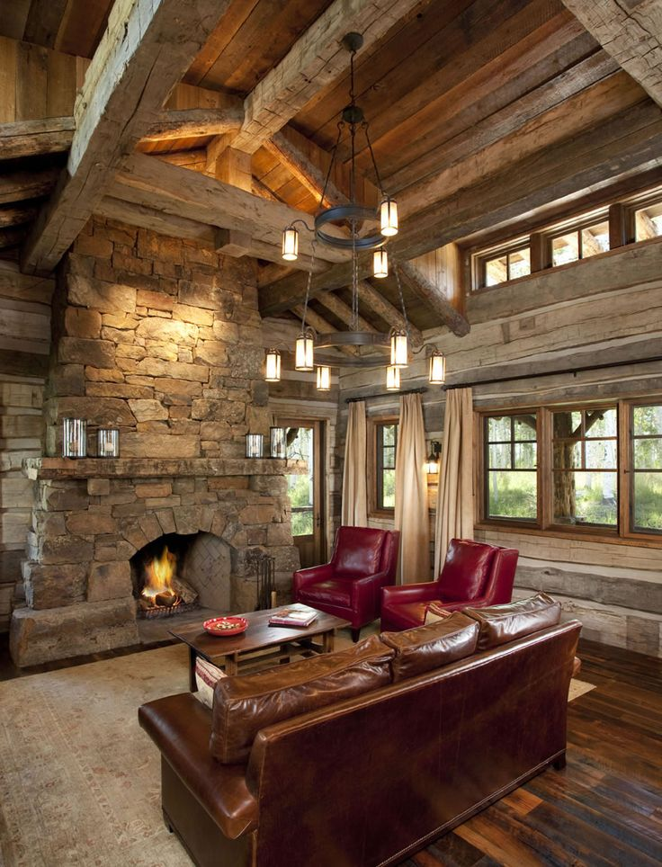 229 best rustic living rooms/ dens images on Pinterest