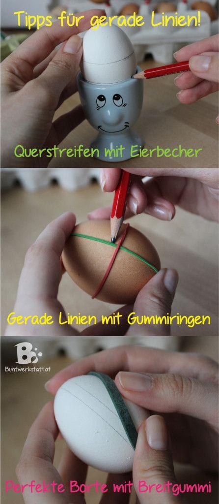 how to paint easter eggs // Ostereier - Tipps und Tricks für gerade Linien