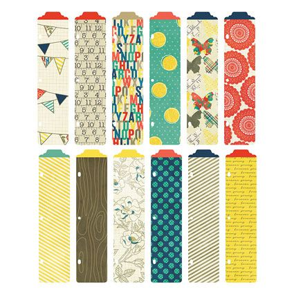 Decorate your binder with these colorful Azure Designer Dividers