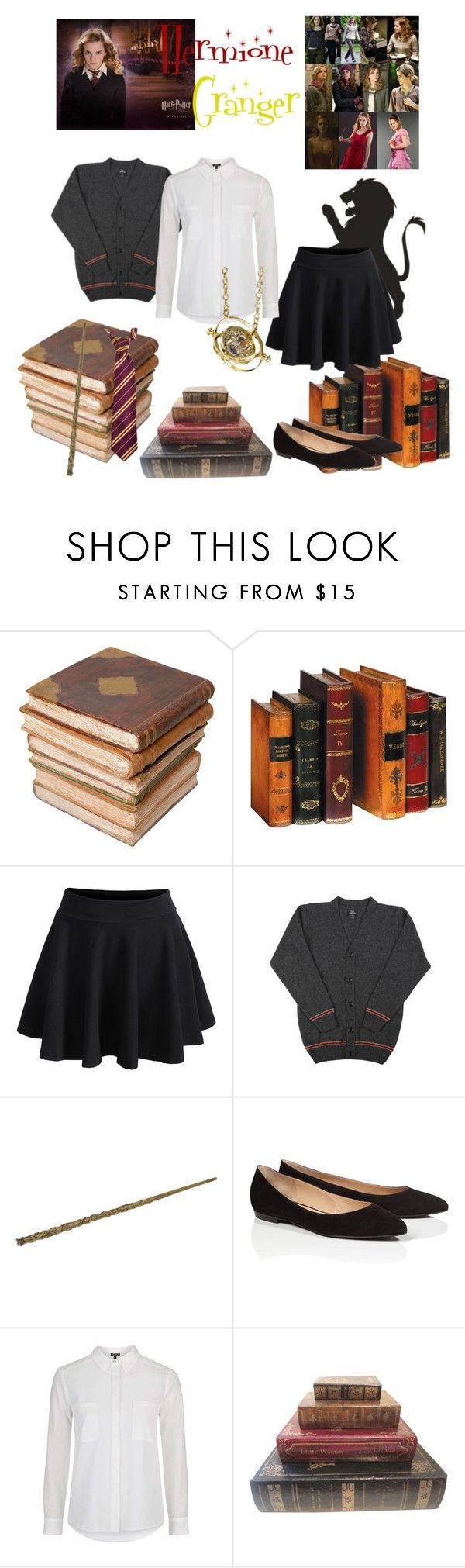 """Hermione Granger : School Outfit"" by dawndreader ❤ liked on Polyvore featuring Ceramiche Pugi, ESCADA and Topshop"