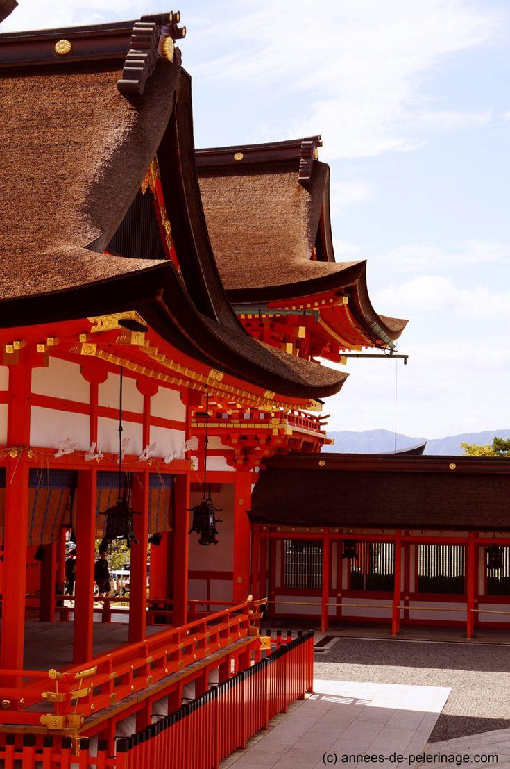 The vermillion roofs of the Fushimi Inari Shrine in Kyoto.