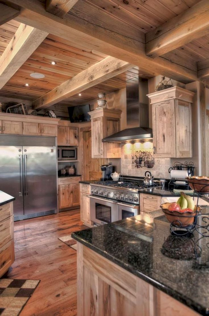 Mix Of White And Wood Rustic Kitchen Island Design Kitchenisland Kitchenc Farmhouse Kitchen Countertops Kitchen Design Countertops Farmhouse Kitchen Design