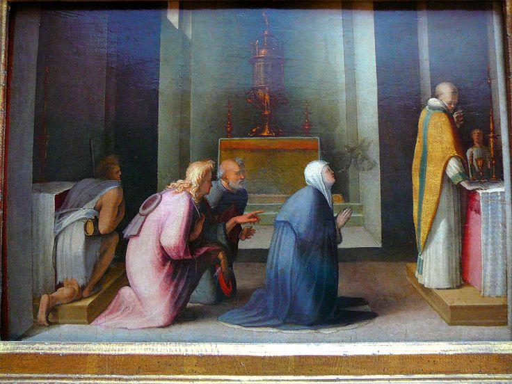 Доменико Беккафуми, Чудесное Причастие Святой Екатерины Сиенской. 1513-1515 Центр Гетти.