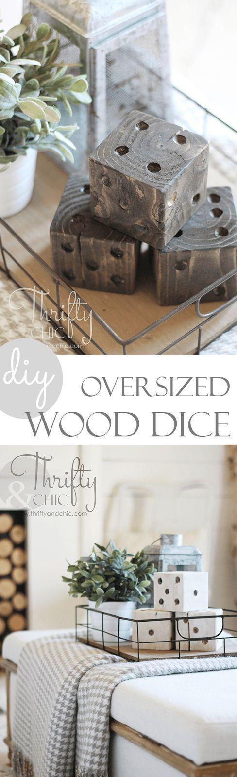 DIY oversized wood dice | 15 Easy DIY Reclaimed Wood Projects #WoodworkingProjectsGarden