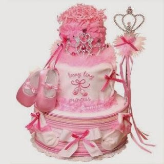 Cute Girl Diaper Cake