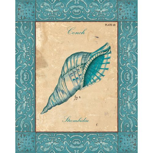 Found it at Wayfair - Verde Mare 1a Center by Debbie Dewitt Graphic Art on Wrapped Canvas