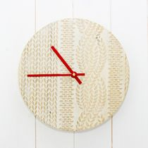 Knitted Cricket Sweater Wooden Clock - New