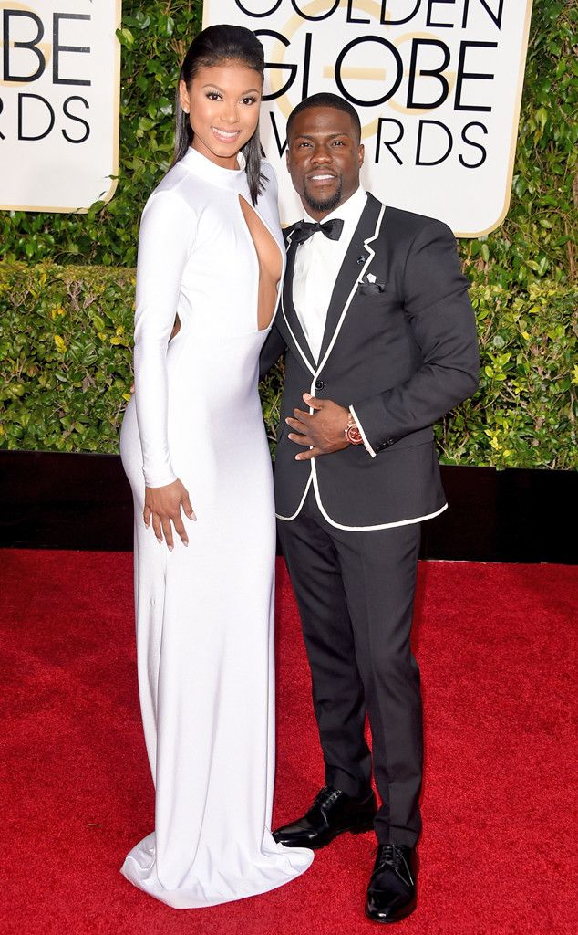 My pick for Best Dressed Couples at the 2015 Golden Globes Awards: Kevin Hart & Eniko Parrish. | E! Online