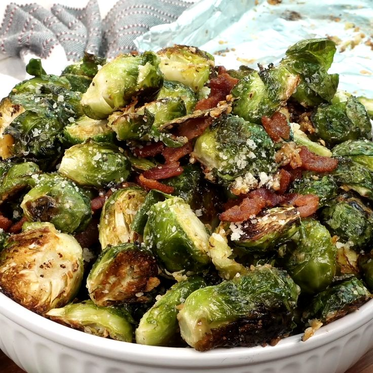 Parmesan Roasted Brussels Sprouts with Bacon   – Butter Your Biscuit Videos
