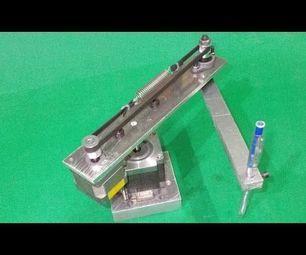Homemade Scara Robot Arm Robotic Draw with Arduino Control - All