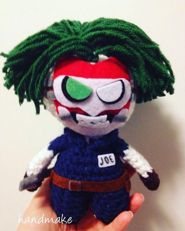 Joker. Dead of the family.  #handmake #handmade #joker #dc #deadofthefamily #deadofthefamilyjoker #actionfigure #toy #amigurumi #джокер #смертьсемьи #смертьсемьиджокер #ручнаяработа #амигуруми #игрушка #коллекционнаяигрушка #коллекционнаяфигурка