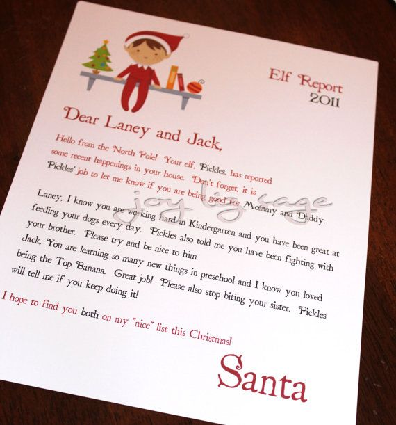 elf on the shelf arrival letter letter for one day when we meridith 21462