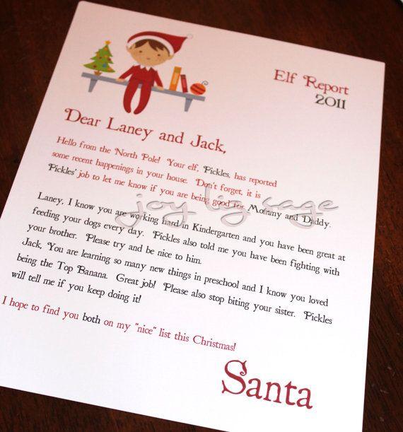 ... Letters, Xmas Elf, Shelf Ideas, Letters Ideas, Elf On The Shelf