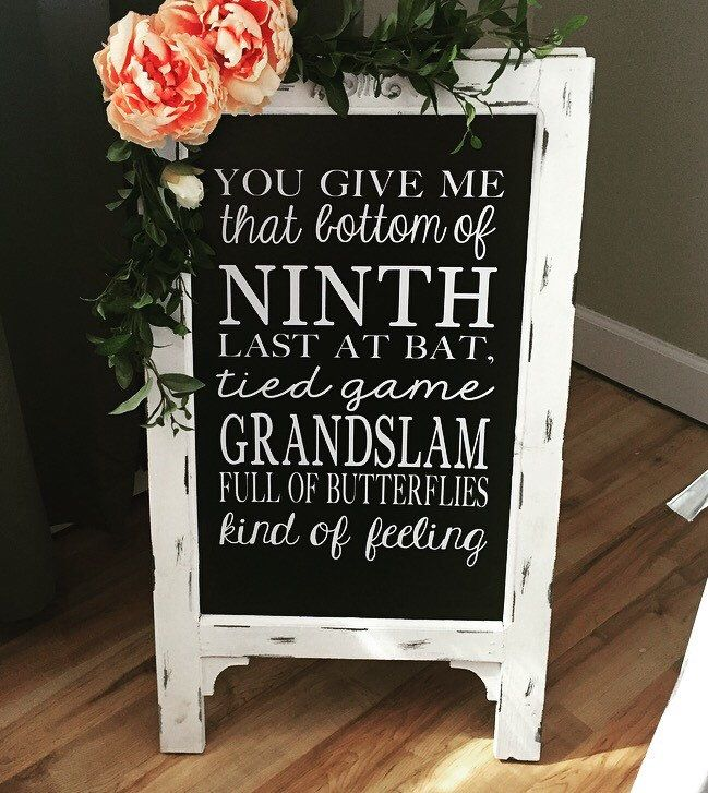 Wedding Chalk Board Sign // Wedding Chalk Board Easel // Baseball // Large Easel by cmorrisdesigns on Etsy https://www.etsy.com/listing/271819618/wedding-chalk-board-sign-wedding-chalk