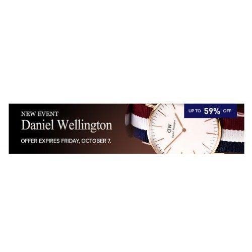 Up to 59% OFF DANIEL WELLINGTON SALE EVENT @ Jomashop - Bargain Bro